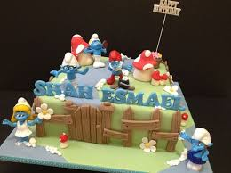46 best smurfs images on pinterest kid parties birthday cakes