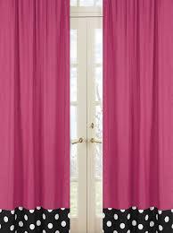 Pink Polka Dot Curtains Pink Black White Polka Dot Window Curtains Drapes Set Of 2