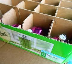 storage bins cardboard ornament storage box with dividers lowes