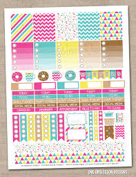 coffee planner stickers printable coffee and donuts printable planner stickers pdf instant download