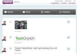 Yahoo Meme - taking yahoo meme for a spin it s a mediocre tumblr clone techcrunch
