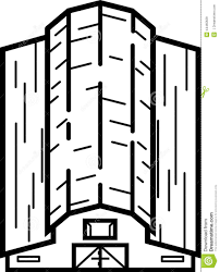 barn illustration clean lines stock illustration image 44465629