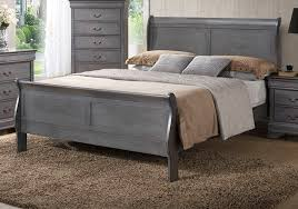 Grey Sleigh Bed Caroline Gray Bed Overstock Warehouse