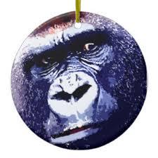 cool gorilla ornaments keepsake ornaments zazzle