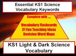 ks1 light and dark vocabulary presentation and spelling list word