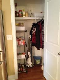 Coat Closet by Boyfriend And I Turned Half Of Our Coat Closet Into A Pantry We