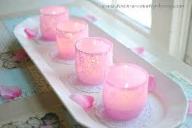 light pink votive candle holders diy pink frosted votive candle holders town country living
