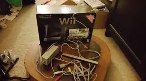 nintendo wii sports resort pack black console almost complete in