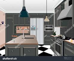 kitchen design kitchen iconinterior room symbol stock vector