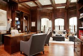 manly home decor beautiful office with wood beams and lovely lighting man cave