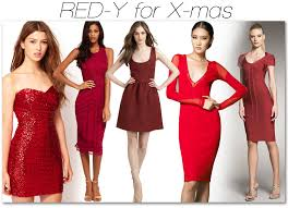 idea of red dress to wear for xmas party christmas inspired
