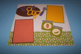 baby u0027s first foods scrapbook layout entitled eat up for baby