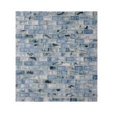 shop american olean visionaire serenity blue glass mosaic subway