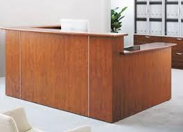 Plywood Reception Desk Custom Multi Level L Reception Desk W Right Side Low Counter