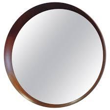 Wall Mirrors Round Asymmetric Frame Danish Wall Mirror Attributed To Pedersen