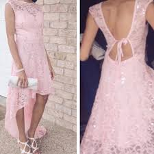 jcpenney blush pink high low prom dress from s