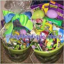 filled easter baskets boys mutant turtles kids boys easter basket filled