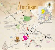 Punjab Map Amritsar City Road Map Of Amritsar