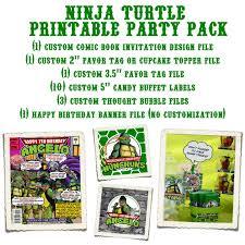 pretty in prints prettyinprints com ninja turtle printable