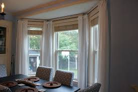 curtains for bay window with square curtain pole