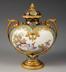 Royal Crown Derby Vase A Royal Crown Derby Two Handled Vase And Cover By Desire Leroy