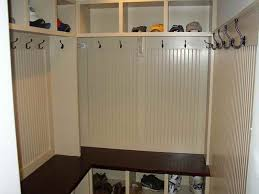 l shaped corner mudroom bench with shoes rack also coat hook and