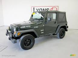 2005 moss green pearlcoat jeep wrangler willys edition 4x4