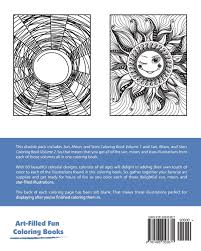 sun moon and stars coloring book double pack volumes 1 u0026 2