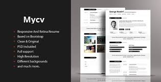 Bootstrap Resume Template 50 Html5 Resume And Cv Templayes Sixthlifesixthlife