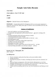 Auto Sales Manager Resume Sample With Retail Store Manager Resume