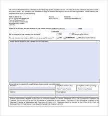 sample service feedback form 11 download free documents in pdf