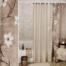 Bathroom Shower Curtain Set Bathroom White Bathroom Shower Curtain With Tree Design