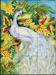 white peacock by kathleen parr mckenna kitchen backsplash white peacock by kathleen parr mckenna kitchen backsplash bathroom wall tile mural ceramic