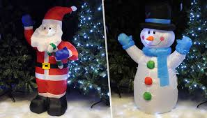 Extra Large Inflatable Christmas Decorations by Inflatable Led Christmas Decoration U2013 Santa Or Snowman From Go Groopie