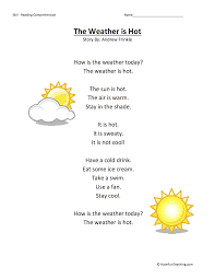 the weather is reading comprehension worksheet