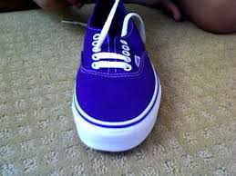 shoelace pattern for vans how to bar lace your vans youtube