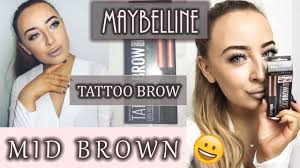 tattoo eyebrows by maybelline full demo and honest review maybelline tattoo eyebrow tint