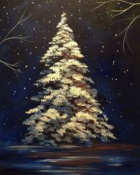 acrylic art christmas scene christmas tree beautiful http