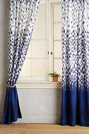White And Blue Curtains Curtain In Blue