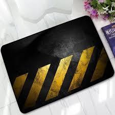 teppich k che kreative warnzeichen gedruckt gummi teppich rebound home living