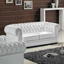 White Leather Sofa Beds Tufted White Leather Sofa Foter
