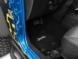 jeep wrangler mats lloyd wrangler ultimat front rear black floor mats jeep logo