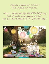 birthday ecard for sister