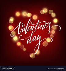 valentines lights valentines day card with glowing lights heart vector image