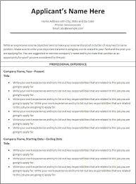 example sample resume