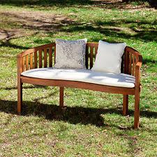 Curved Teak Garden Bench Unbranded Teak Patio U0026 Garden Benches Ebay