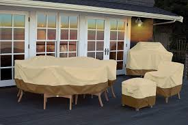 Large Patio Furniture Covers - amazon com classic accessories veranda oval rectangular patio