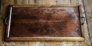 wooden tray makeover as antique crate knick of time