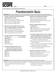 frankenstein quiz scope