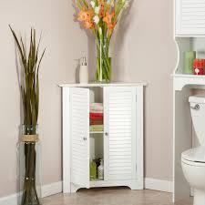 Floor Cabinet by Riverridge Ellsworth 3 Shelf Corner Cabinet White Walmart Com